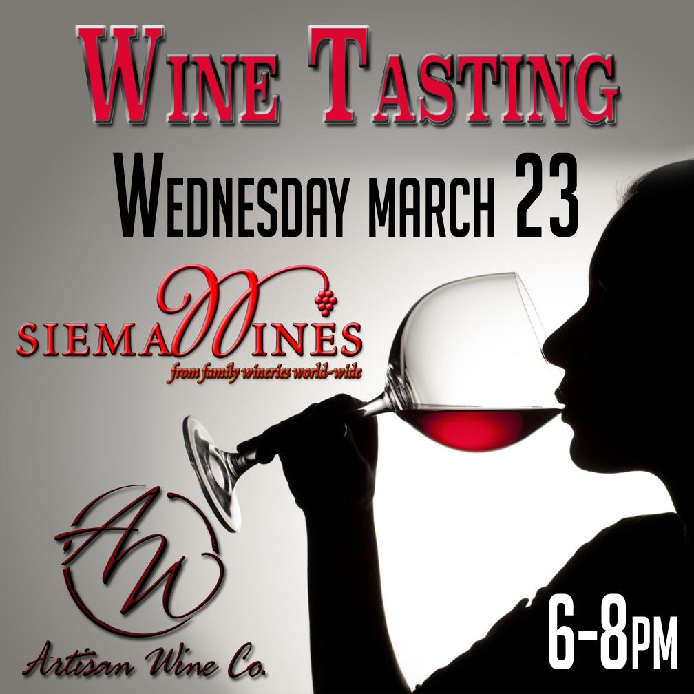 Siema Wine Tasting