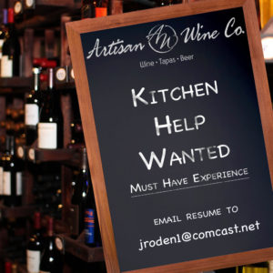 Kitchen Help Wanted