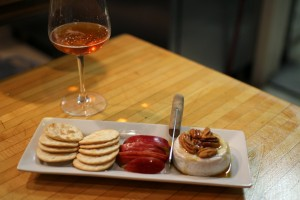 Brie Melt and White Zin